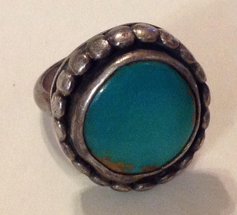 Estate James Harrison sterling turquoise ring