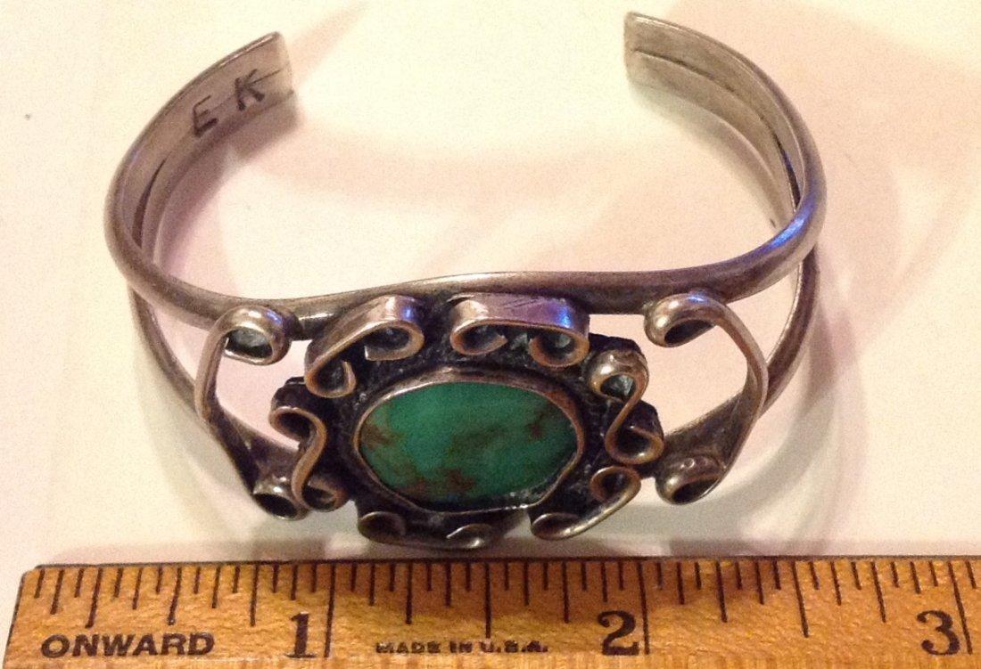 Estate Elliot Koinva sterling turquoise bracelet - 2