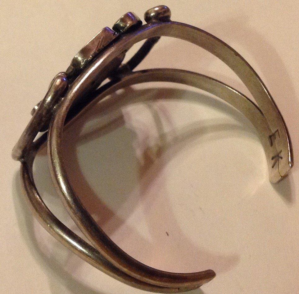 Estate Elliot Koinva sterling turquoise bracelet - 3