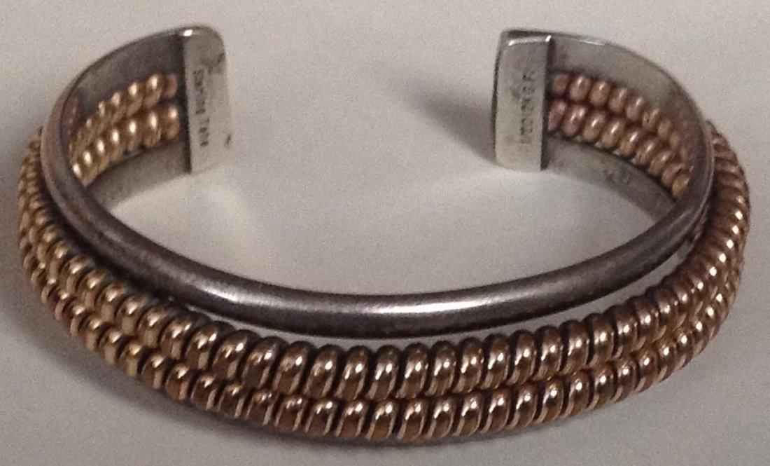 Estate Native Tahe sterling gold filled bracelet