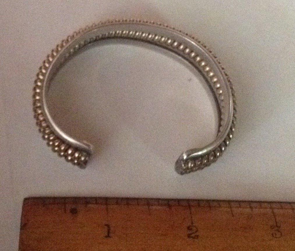Estate Native Tahe sterling gold filled bracelet - 2