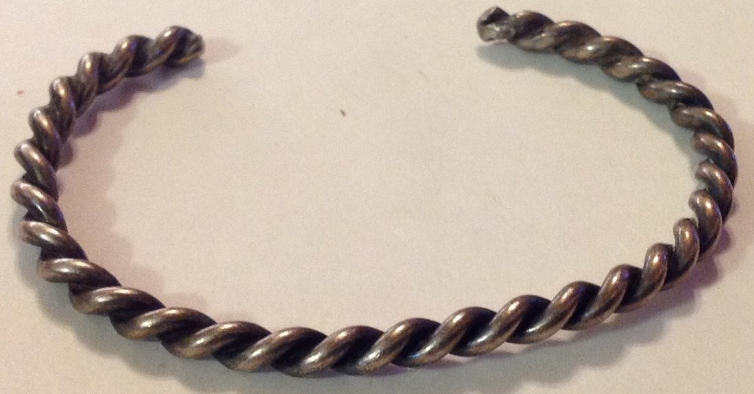 Navajo Native America sterling twist rope bracelet
