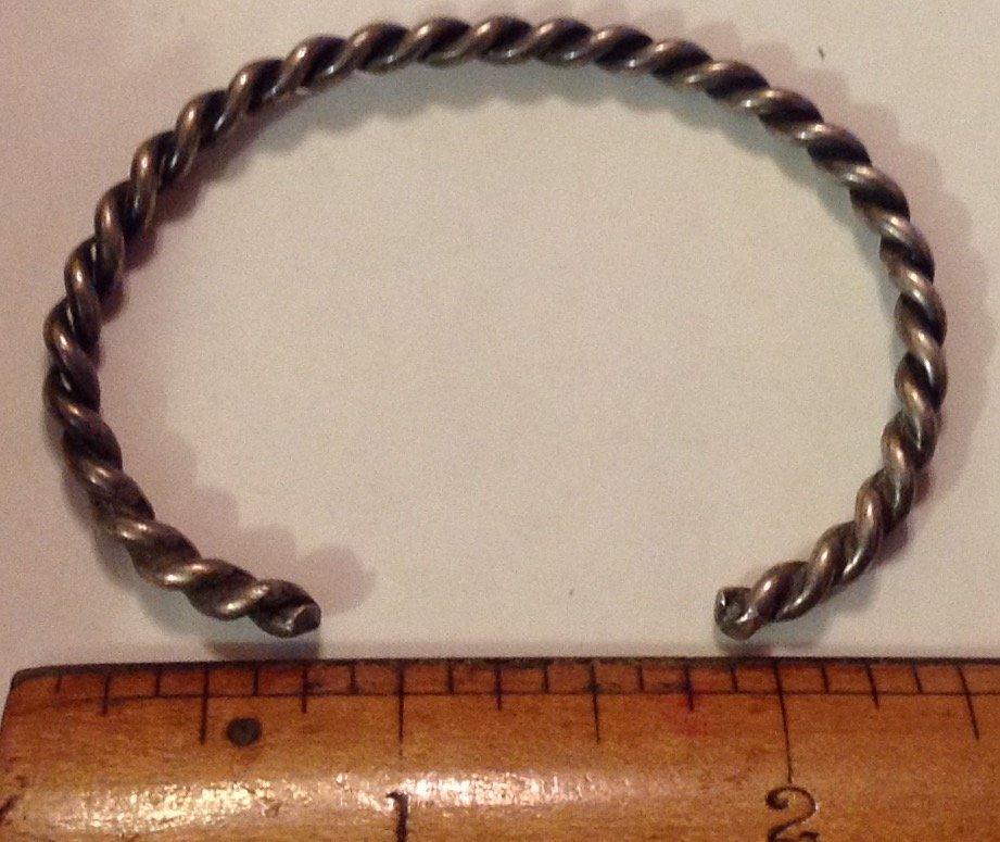 Navajo Native America sterling twist rope bracelet - 2