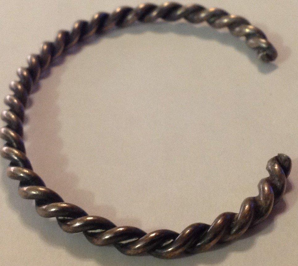 Navajo Native America sterling twist rope bracelet - 3