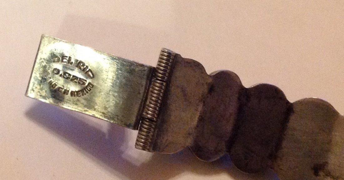 estate old Mexico Del Rio sterling green onyx bracelet - 3