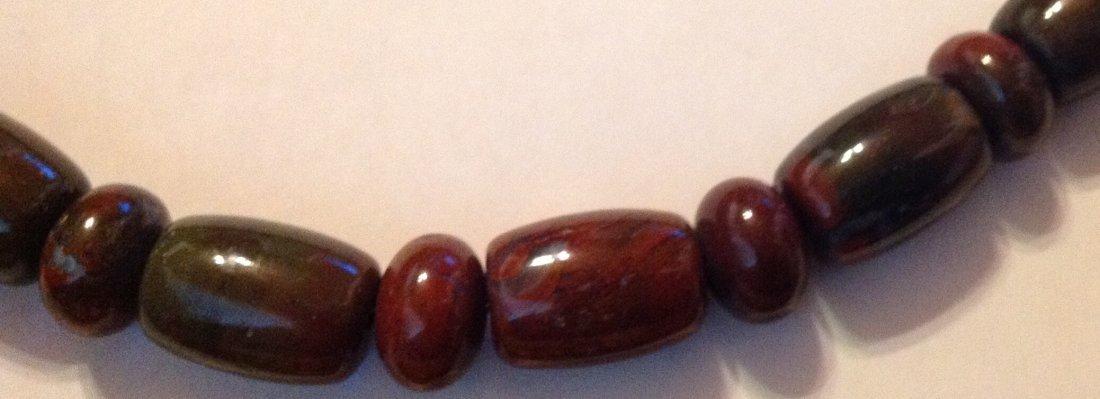 Estate Native Jay King sterling jasper bead necklace - 2