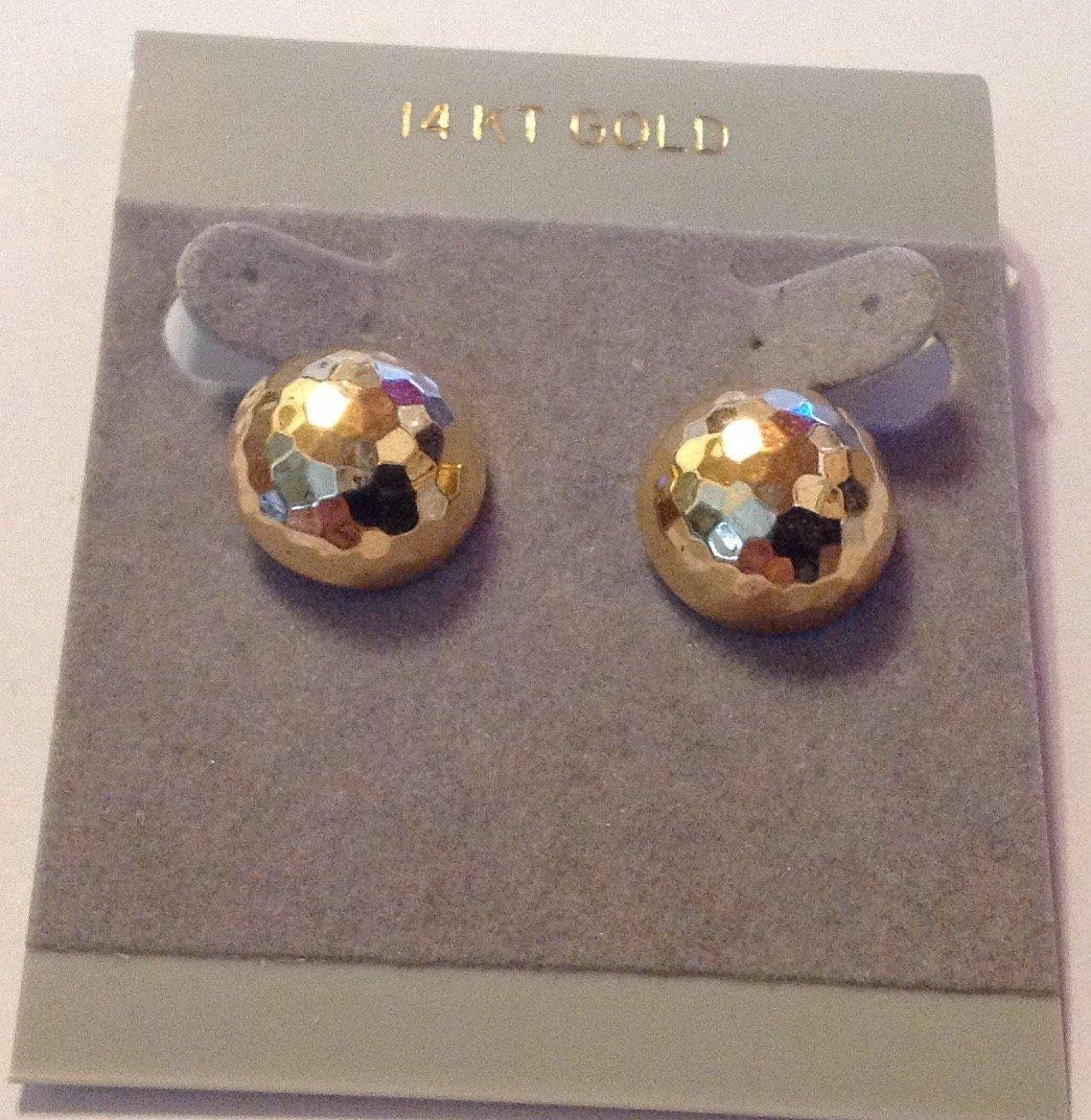 Estate vintage 14k gold dome earrings
