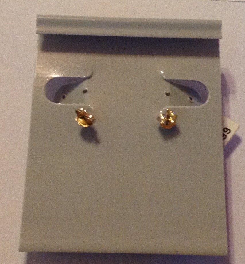 Estate vintage 14k gold dome earrings - 2