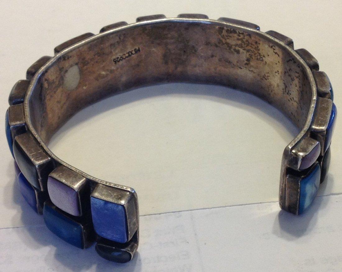 Estate vintage Huge Mexico sterling cuff bracelet - 2