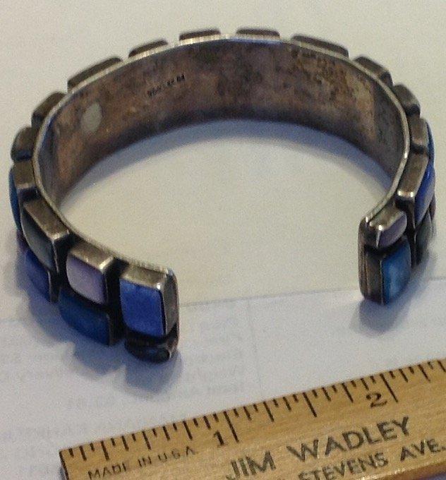Estate vintage Huge Mexico sterling cuff bracelet - 3