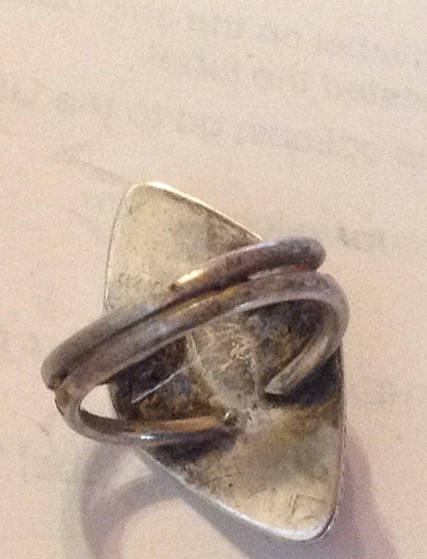 Estate antique native handmade sterling opal ring - 3