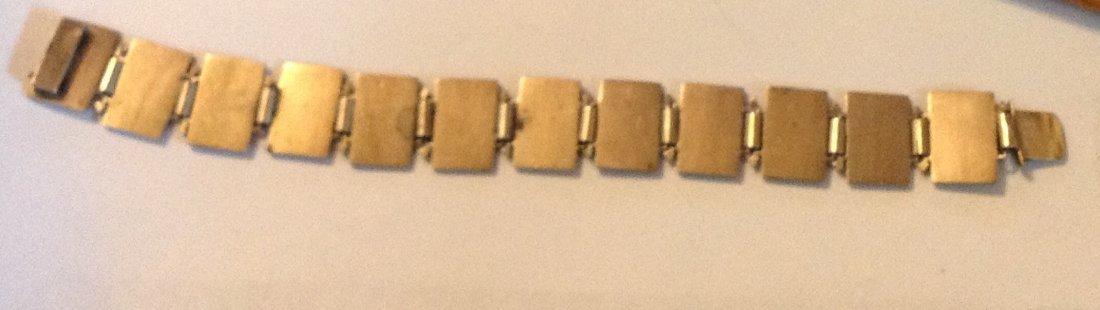 Estate antique sterling Enamel playing cards bracelet - 5