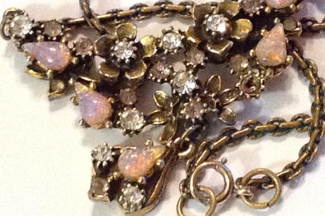 Estate vintage old elegant fashion necklace - 2