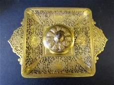 1880's Victorian Brass Inkwell