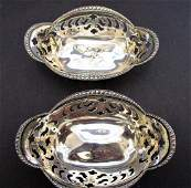 Tiffany Makers Sterling nut dishes
