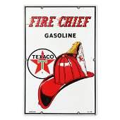 1962 Texaco Fire Chief Porcelain Gas Pump Plate Sign
