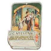 "Early J.C Stevens ""Old Judson"" Whiskey Tin Litho Match"