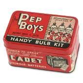 Graphic Pep Boys Handy Bulb Kit Tin Litho Can