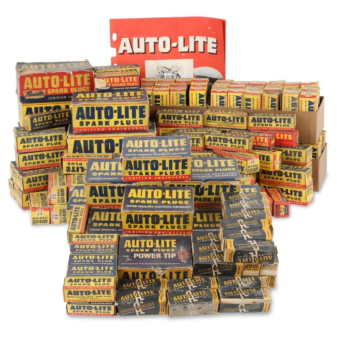 Lot 15+ Boxes 1940's New Old Stock Autolite Spark Plugs