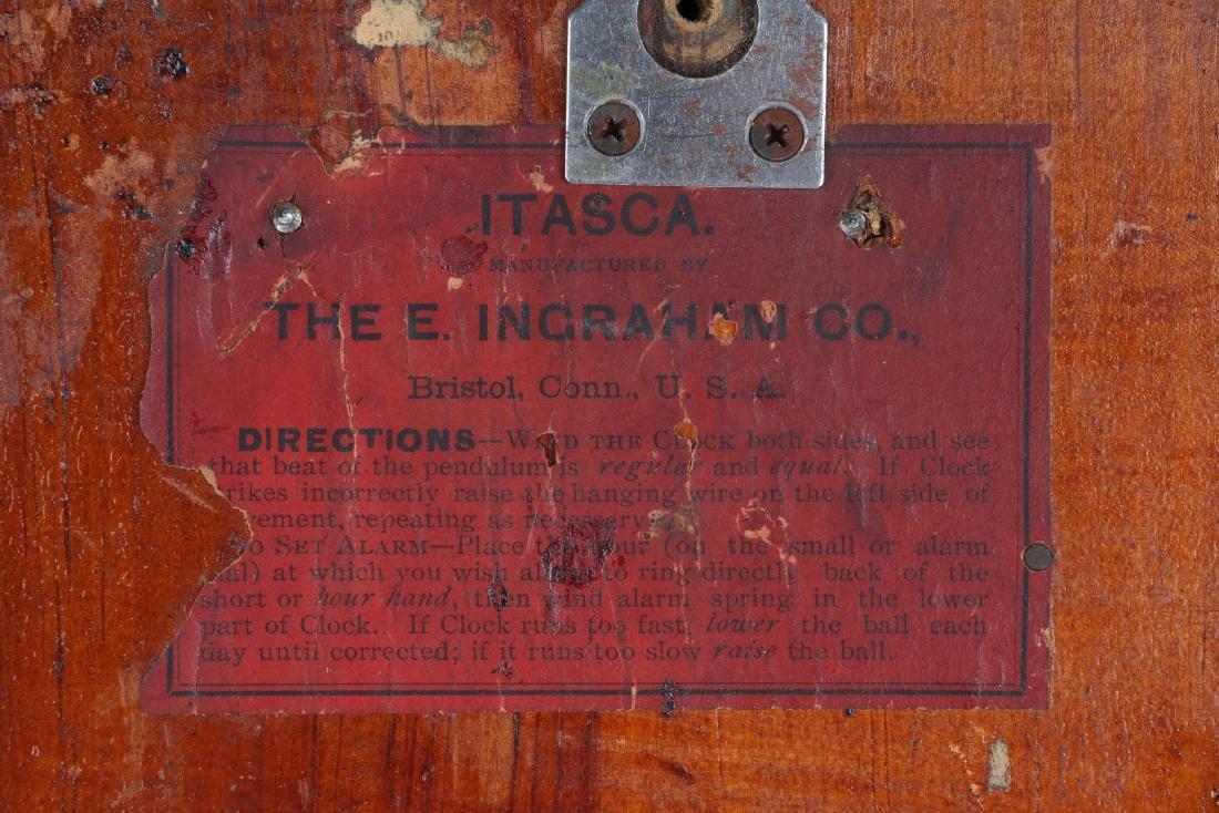 """Ingraham """"Itasca"""" Hanging Gingerbread Wall Clock - 10"""