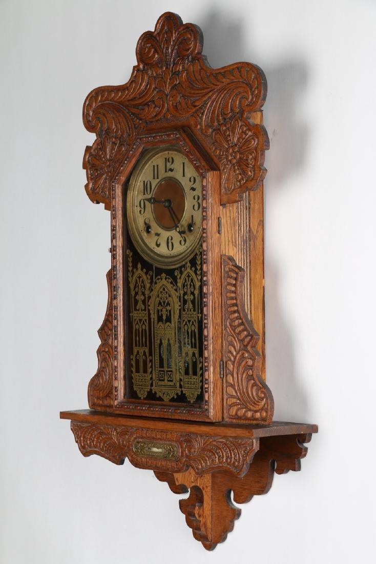 """Ingraham """"Itasca"""" Hanging Gingerbread Wall Clock - 2"""
