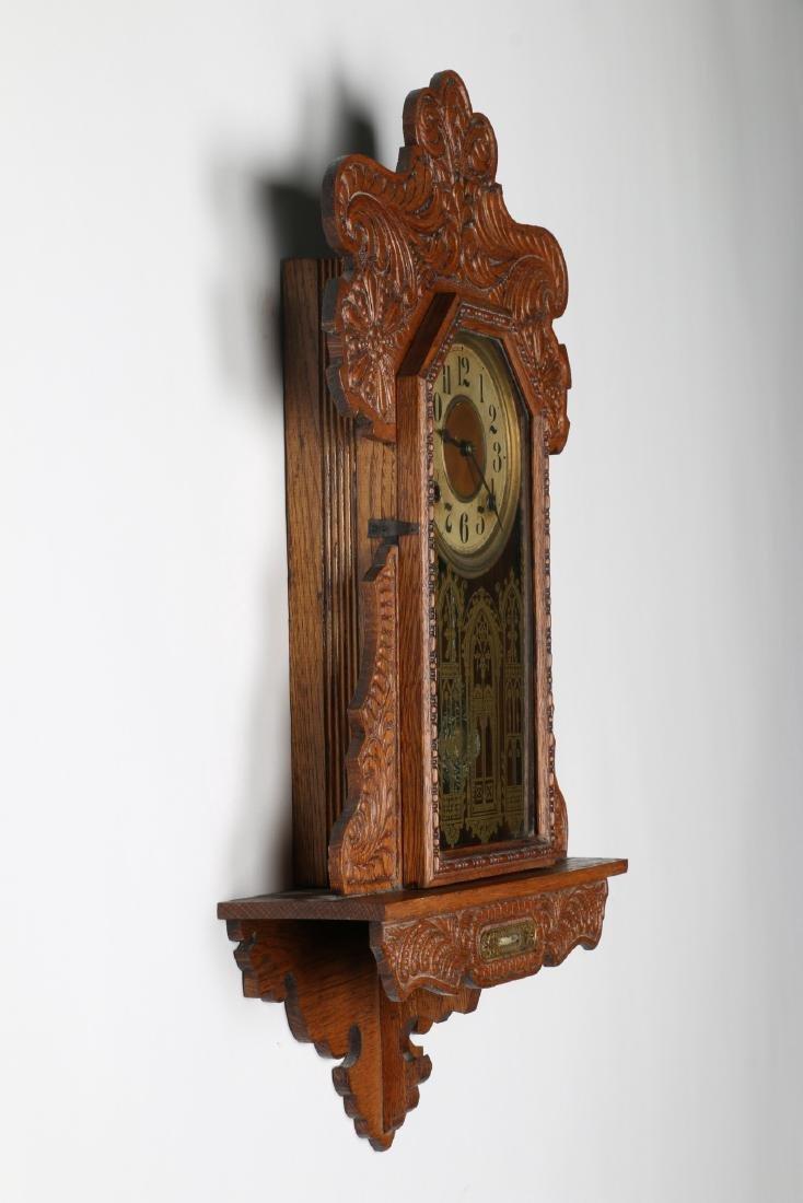"""Ingraham """"Itasca"""" Hanging Gingerbread Wall Clock - 3"""