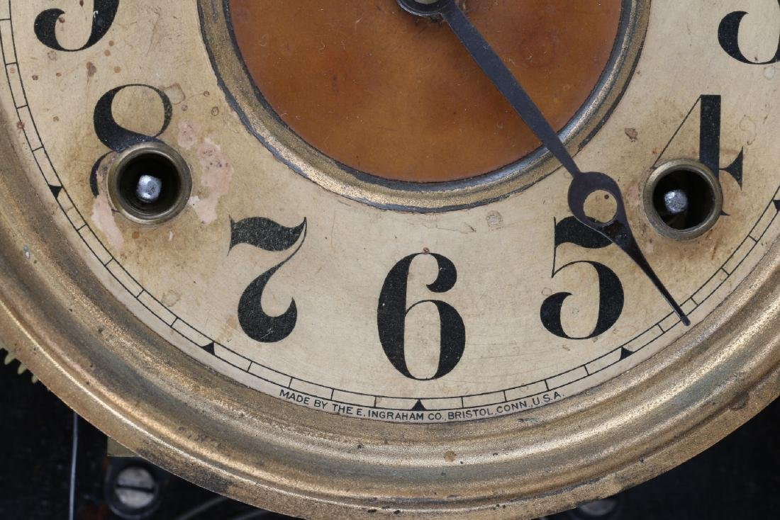 """Ingraham """"Itasca"""" Hanging Gingerbread Wall Clock - 5"""
