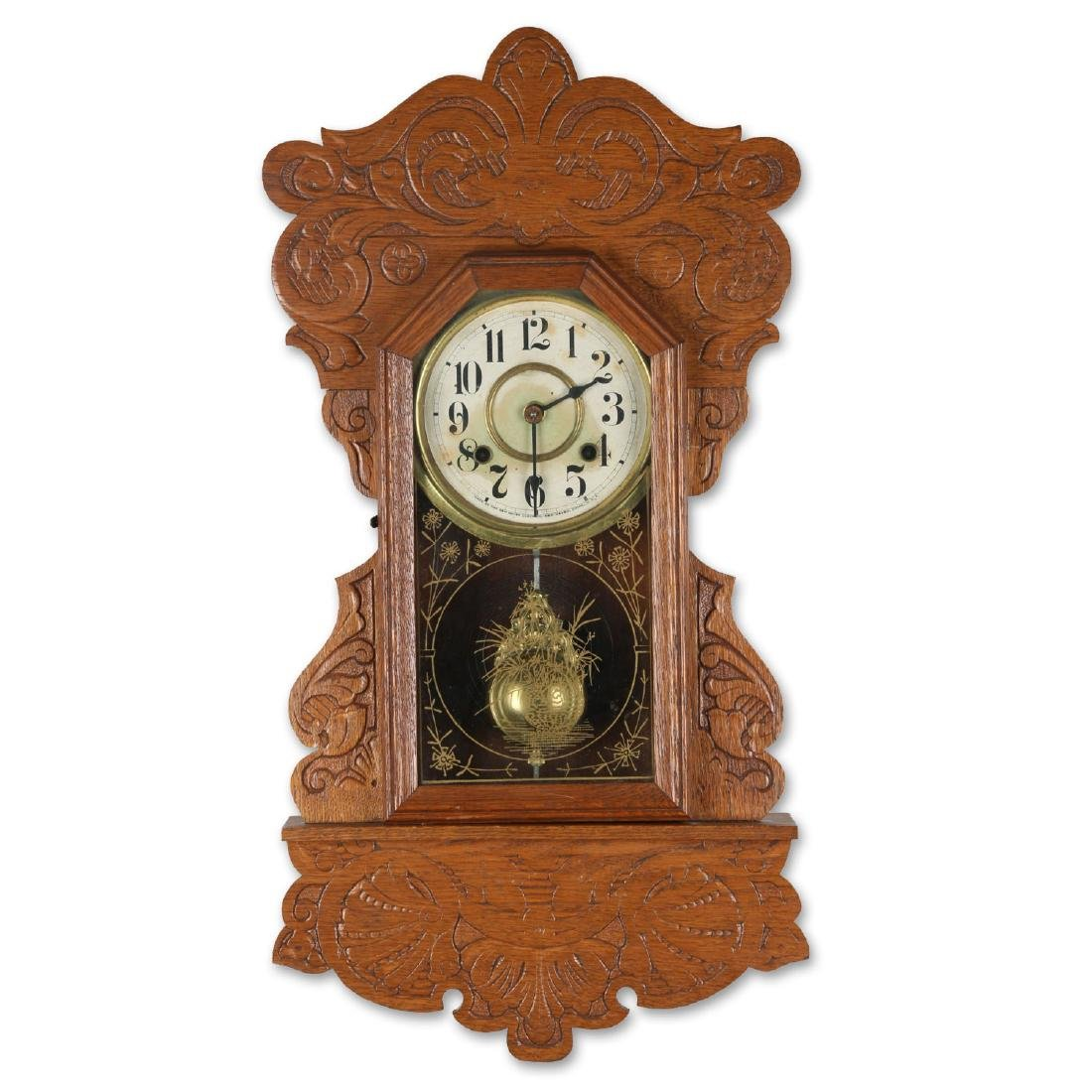 New Haven Hanging Gingerbread Wall Clock