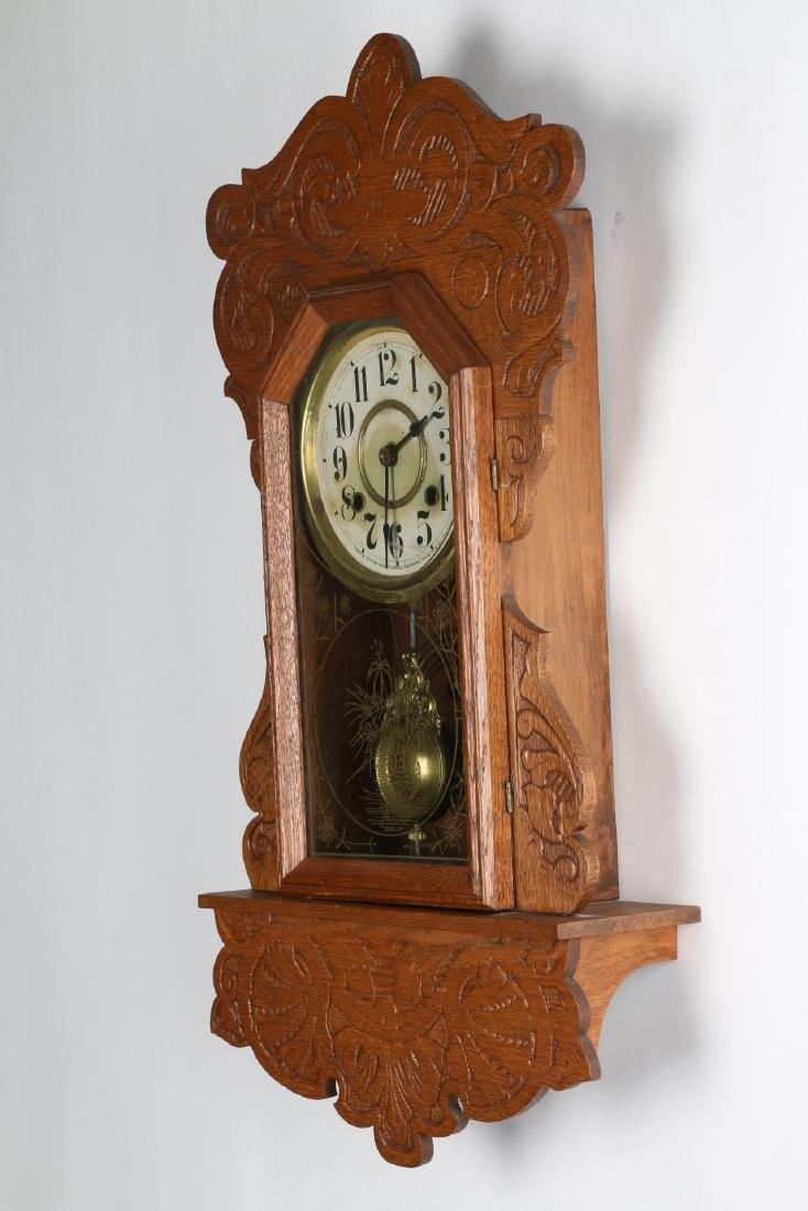 New Haven Hanging Gingerbread Wall Clock - 2