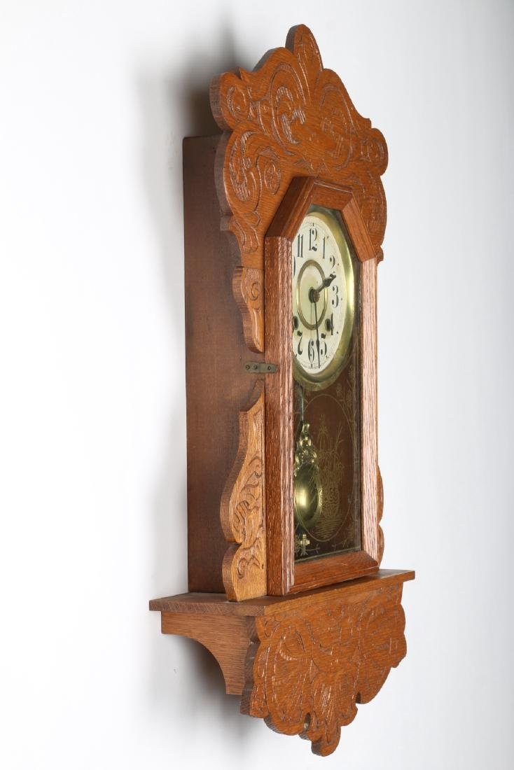 New Haven Hanging Gingerbread Wall Clock - 3