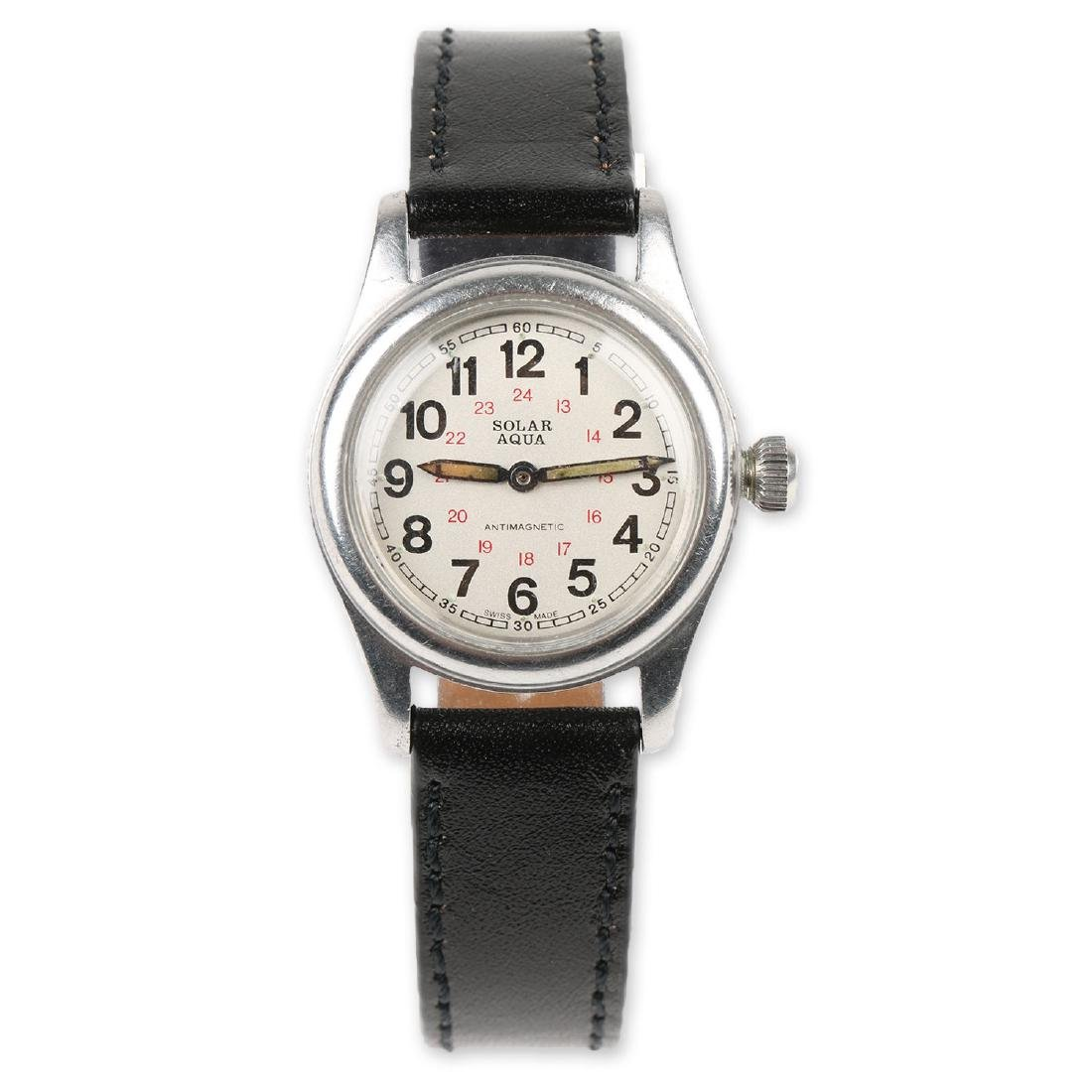 "WWII-Era Rolex Oyster ""Solar Aqua"" Wristwatch"
