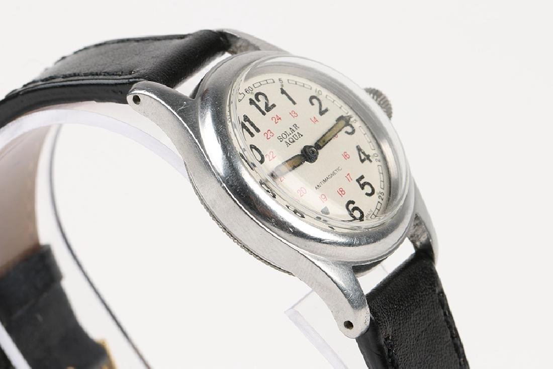 "WWII-Era Rolex Oyster ""Solar Aqua"" Wristwatch - 3"
