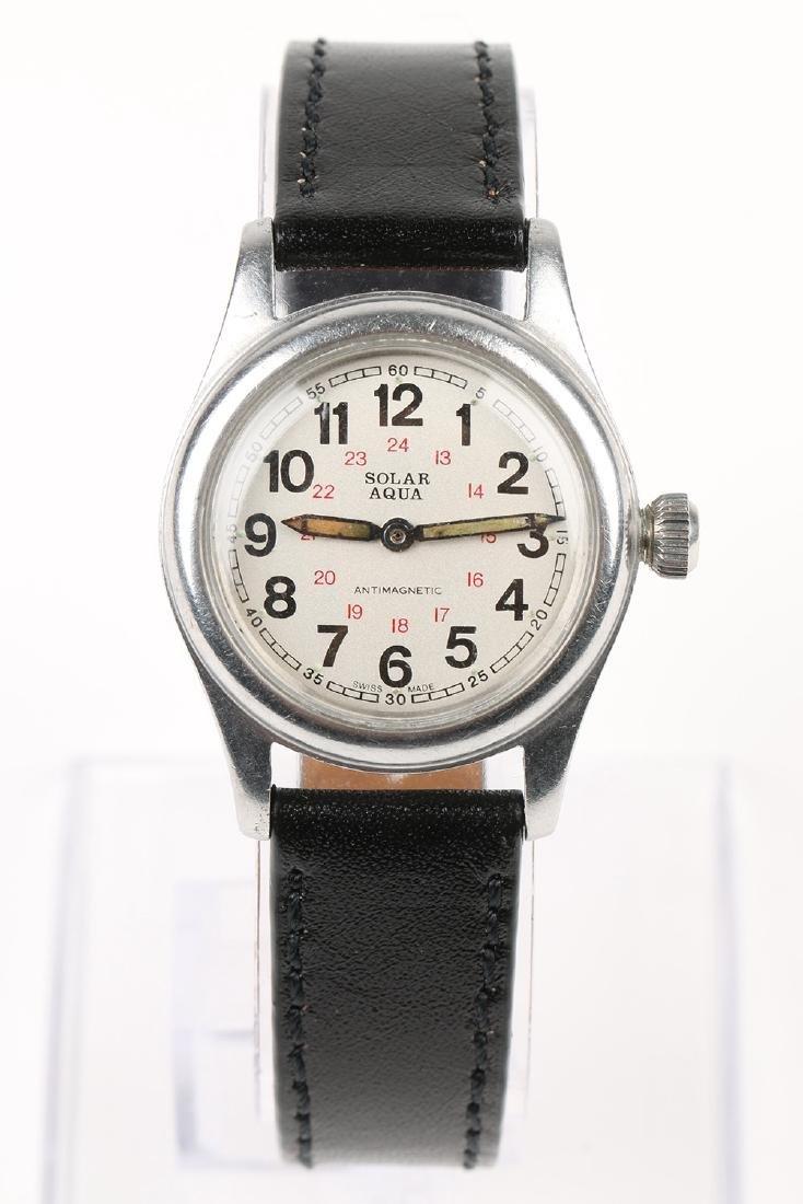 "WWII-Era Rolex Oyster ""Solar Aqua"" Wristwatch - 4"