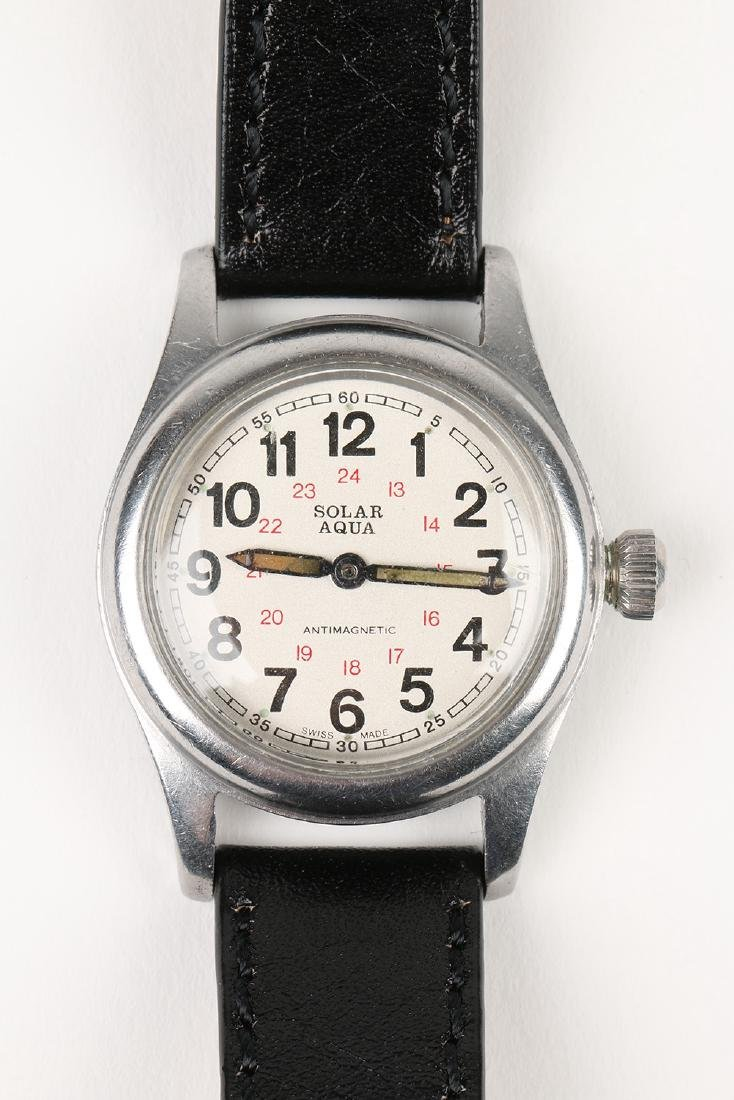 "WWII-Era Rolex Oyster ""Solar Aqua"" Wristwatch - 6"