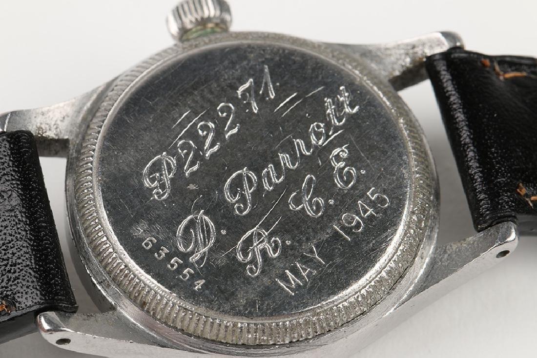 "WWII-Era Rolex Oyster ""Solar Aqua"" Wristwatch - 8"