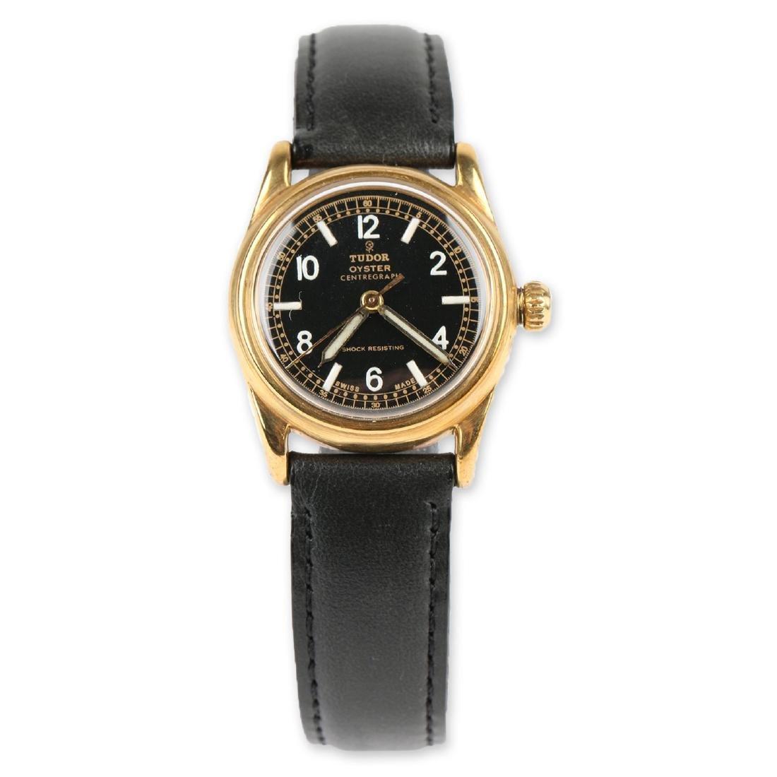 "WWII-Era Rolex Tudor Oyster ""Centregraph"" Wristwatch"