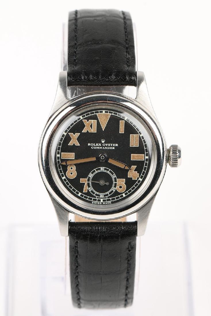 """WWII-Era Rolex Oyster """"Commander"""" Wristwatch - 4"""