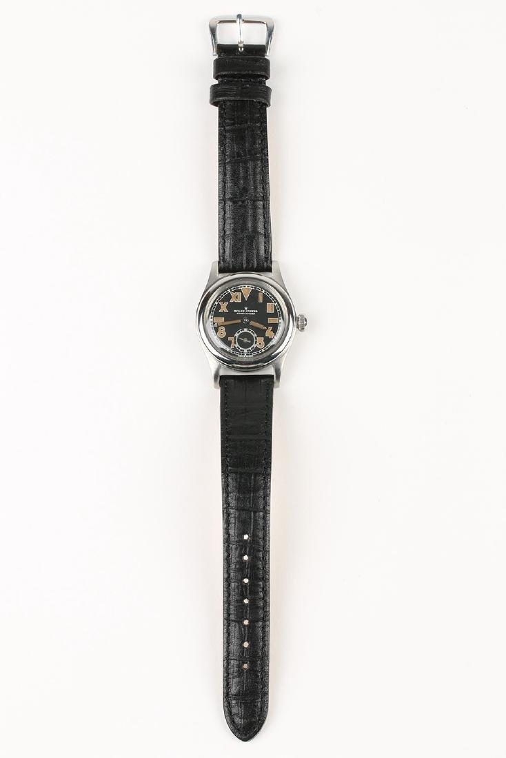 """WWII-Era Rolex Oyster """"Commander"""" Wristwatch - 5"""