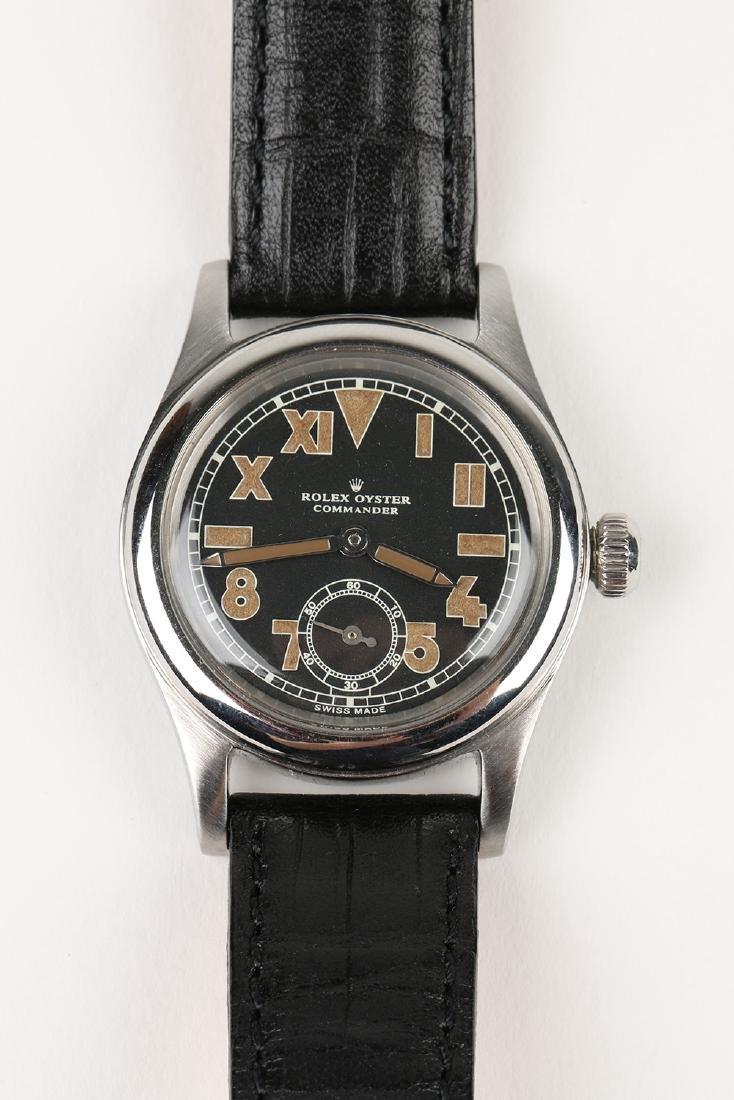 """WWII-Era Rolex Oyster """"Commander"""" Wristwatch - 6"""