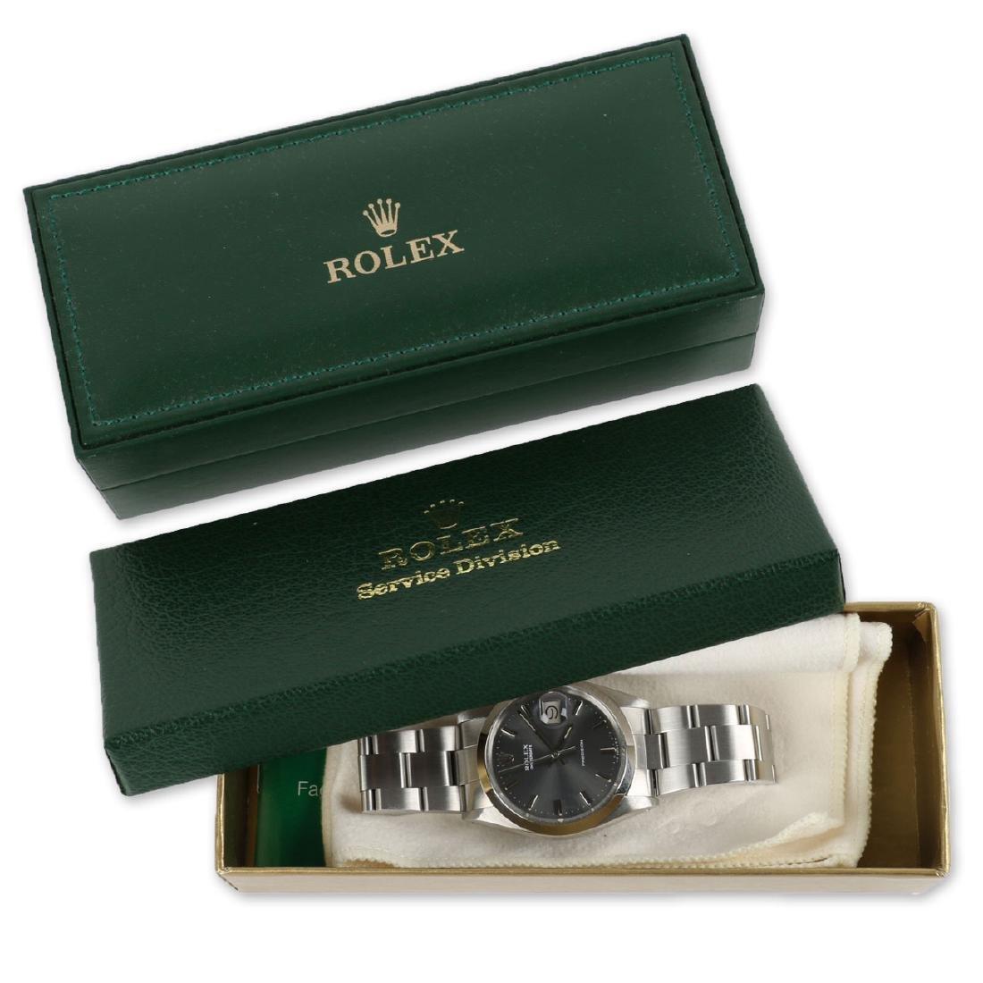 """Stainless Steel Rolex Precision 'Oysterdate"""" Wristwatch"""