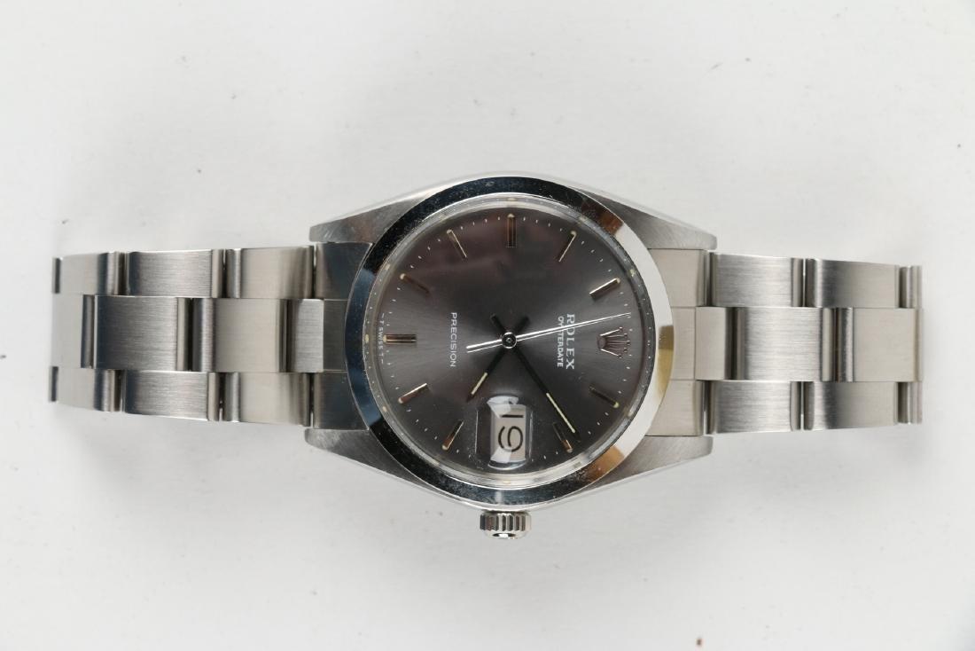 """Stainless Steel Rolex Precision 'Oysterdate"""" Wristwatch - 7"""