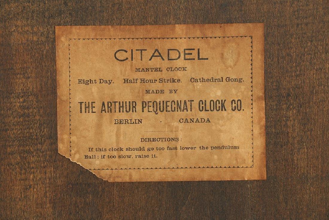 """Pequegnat """"Citadel"""" Mantel Clock - 8"""