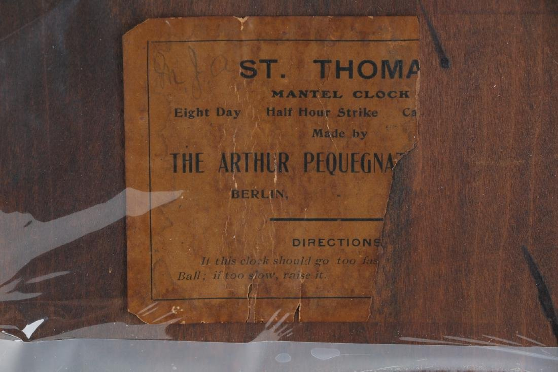 "Pequegnat ""St. Thomas"" Mantel Clock - 6"