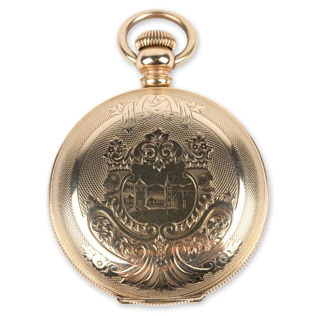 18S 11J Elgin Nat'l Key-Wind Full Hunter Pocket Watch