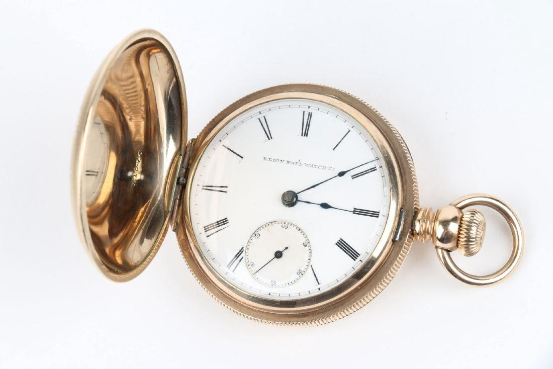18S 11J Elgin Nat'l Key-Wind Full Hunter Pocket Watch - 5