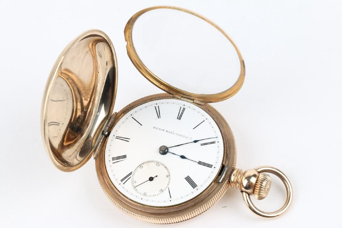 18S 11J Elgin Nat'l Key-Wind Full Hunter Pocket Watch - 6