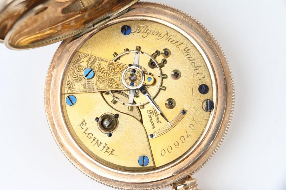 18S 11J Elgin Nat'l Key-Wind Full Hunter Pocket Watch - 8