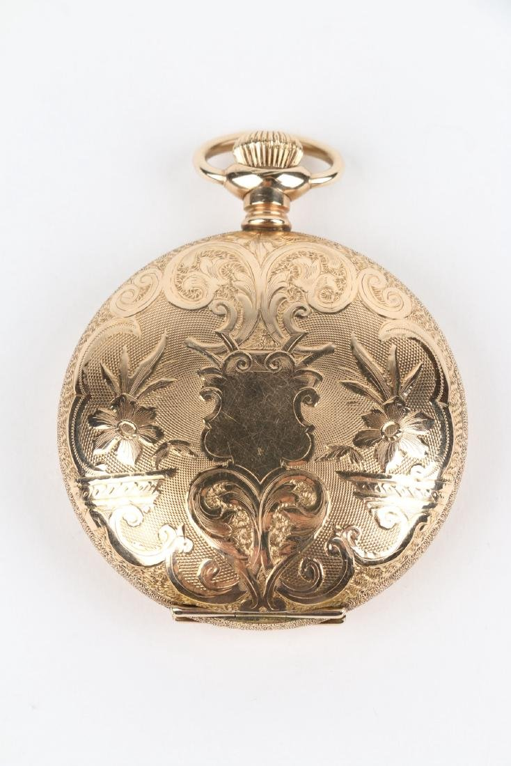 18S 7J Elgin Nat'l Full Hunter Pocket Watch - 2