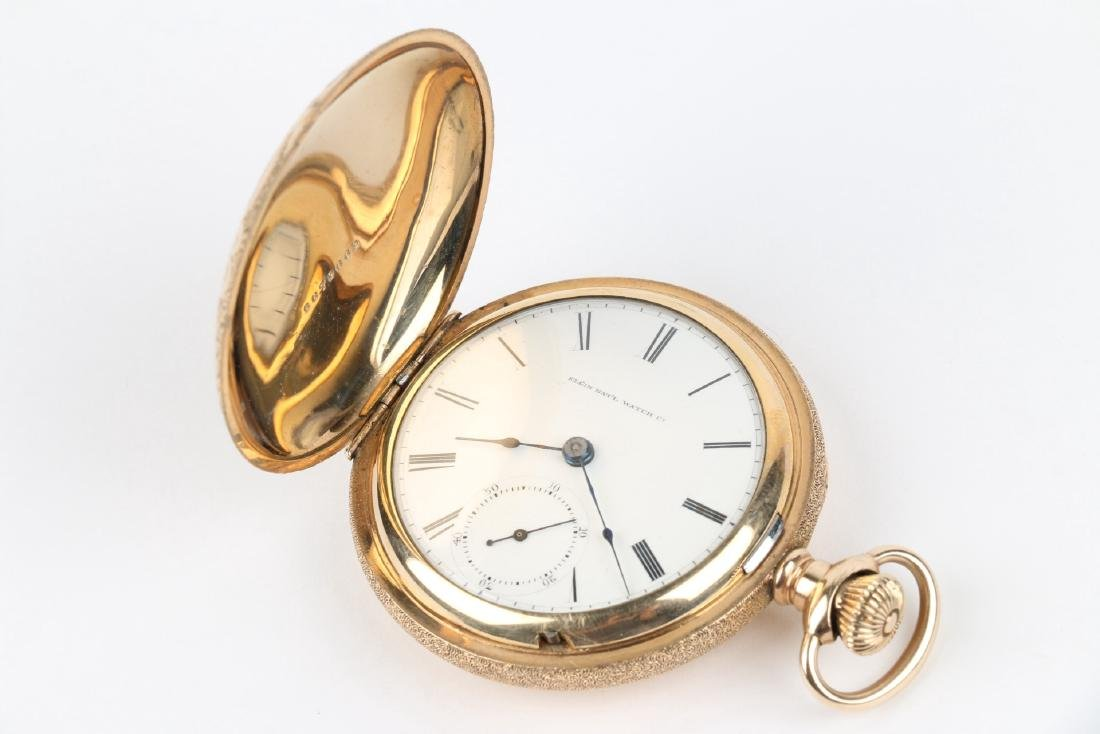 18S 7J Elgin Nat'l Full Hunter Pocket Watch - 4