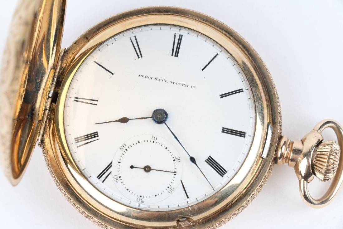 18S 7J Elgin Nat'l Full Hunter Pocket Watch - 5